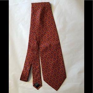 Paolo Gucci designer silk red tie